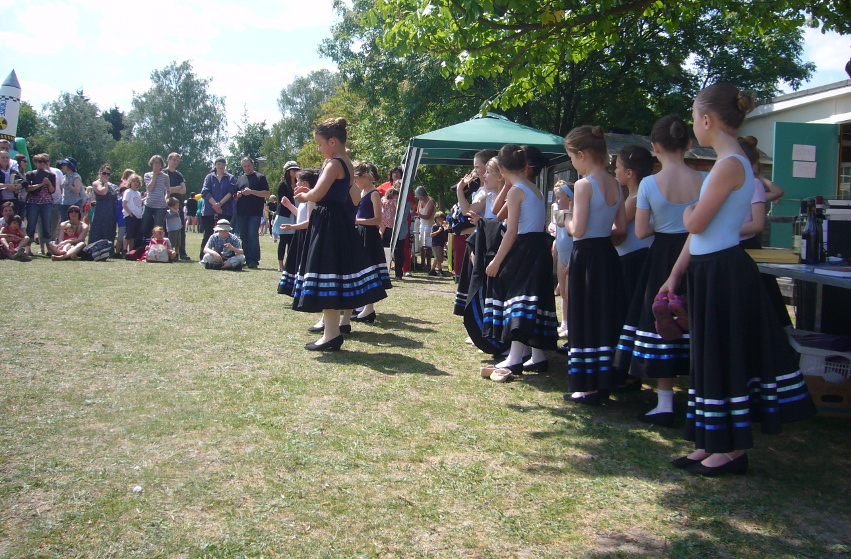 Children dancing at Queen Edith Summer Fair